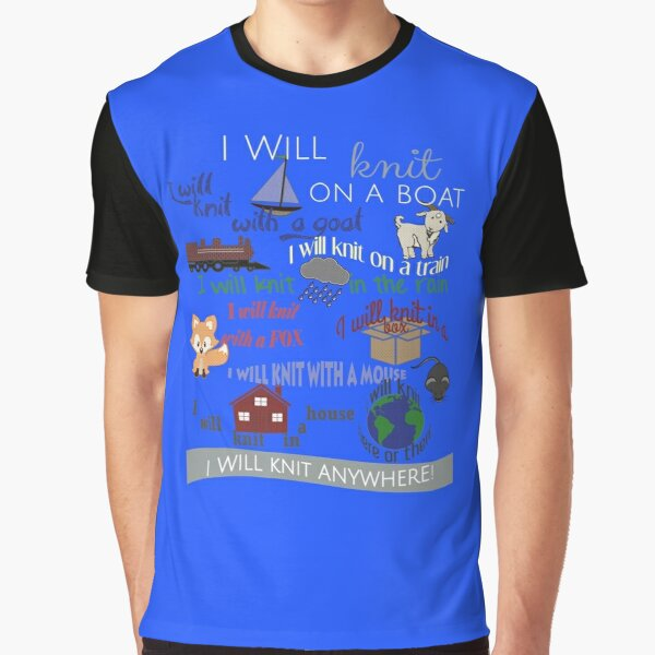 Knitting Products: I Will Knit on a Boat   Graphic T-Shirt