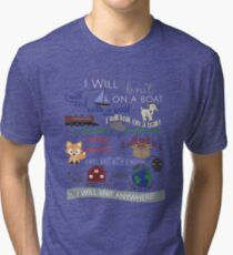 Knitting Products: I Will Knit on a Boat   Tri-blend T-Shirt