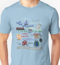 Knitting Products: I Will Knit on a Boat   Unisex T-Shirt