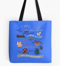 Knitting Products: I Will Knit on a Boat   Tote Bag