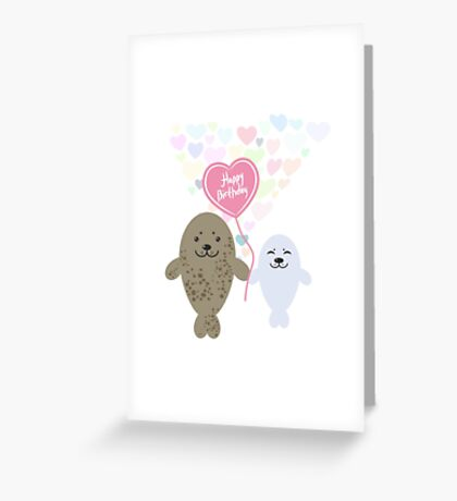 Happy Birthday Seals Greeting Card