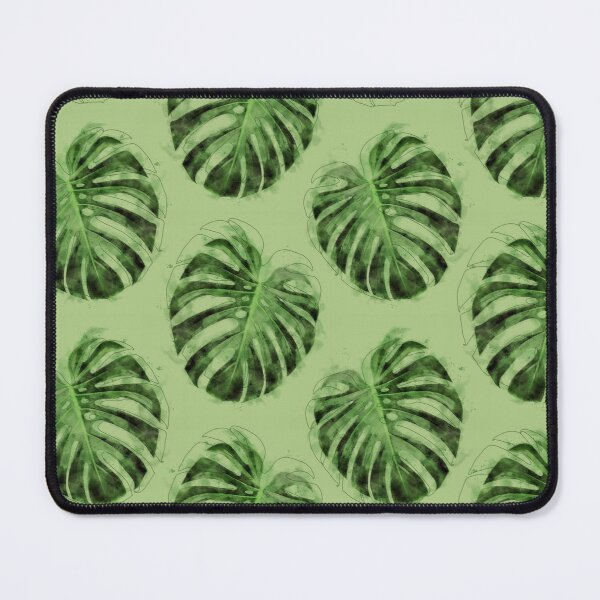 Monstera Leaves Mouse Pad
