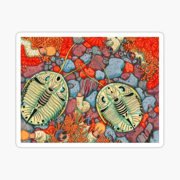 Genevievella trilobite Sticker