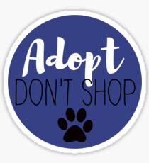 Adopt Don't Shop - Navy Sticker