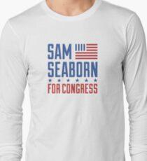 Sam Seaborn für den Kongress Langarmshirt