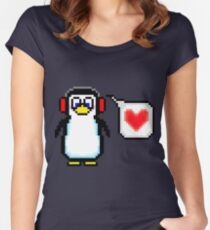 Valentine Penguin Women's Fitted Scoop T-Shirt
