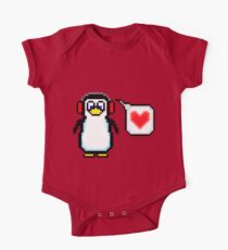 Valentine Penguin One Piece - Short Sleeve