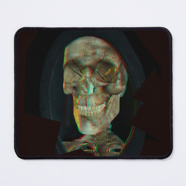 Laughing Reaper ( anaglyph)-3D Halloween Mouse Pad