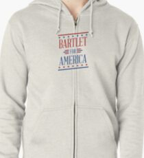 Bartlet For America  Zipped Hoodie