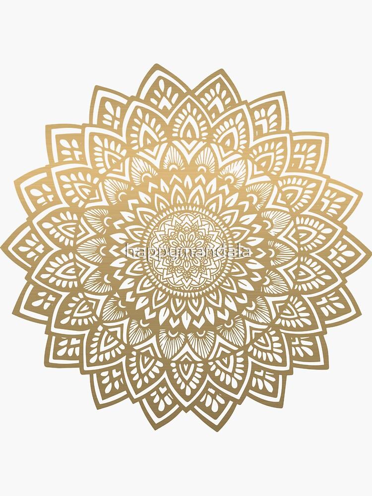 Mandala gold by happymandala