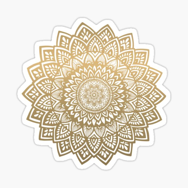 Mandala gold Sticker