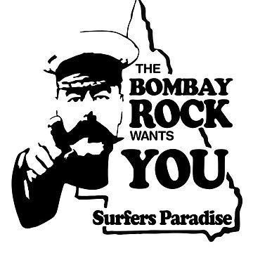 Bombay Rock (solid white) by GoldCoastRetro