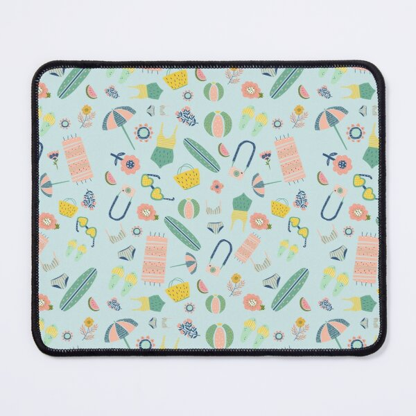 A Day At The Beach Pastel Mint Mouse Pad