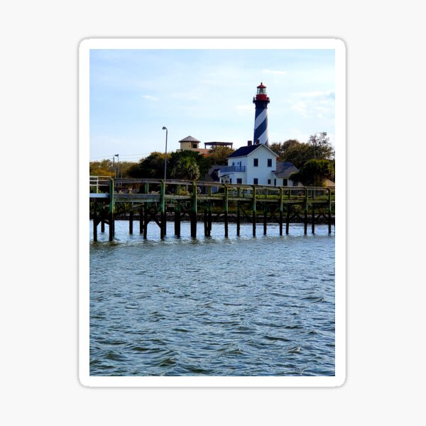 St. Augustine Beach, Florida, lighthouse from the waterfront  Sticker