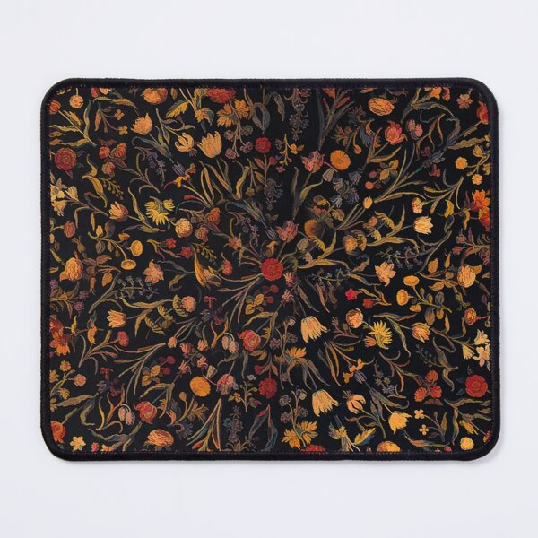 Midnight Floral Mouse Pad
