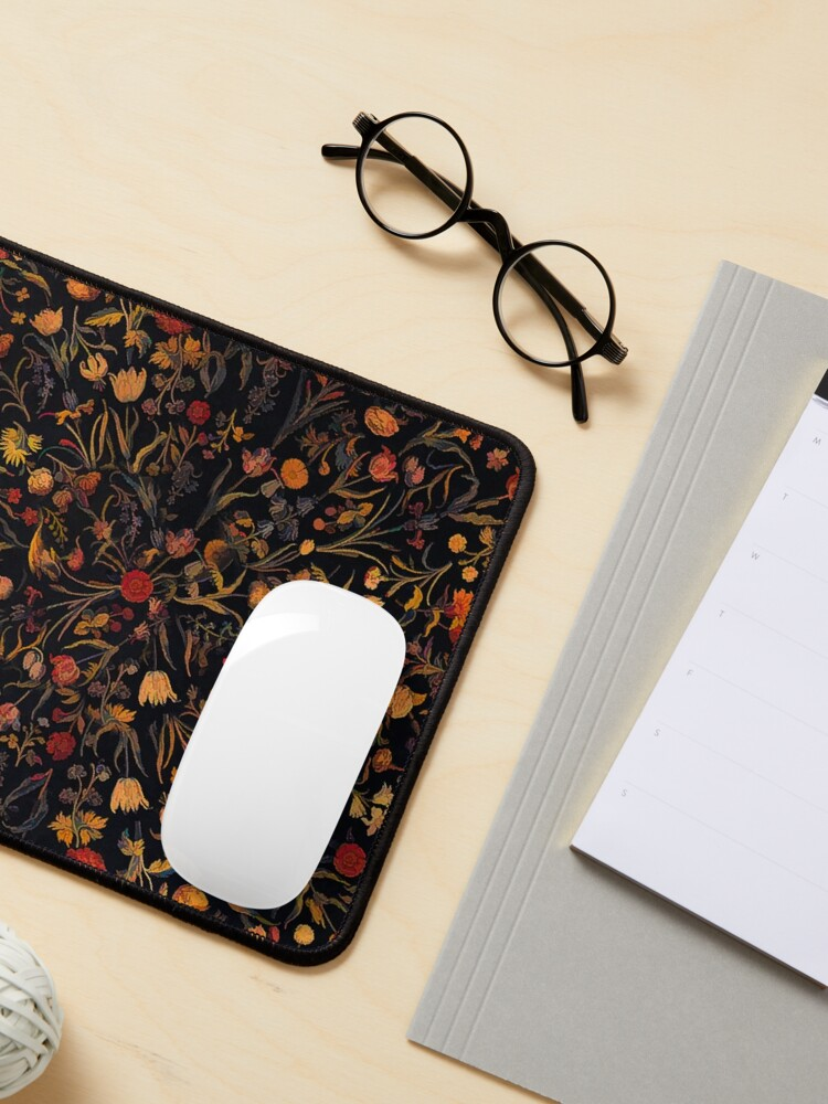 Alternate view of Midnight Floral Mouse Pad