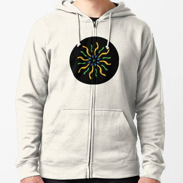 mandala 12- Life is the blossom for which love is the nectar Zipped Hoodie