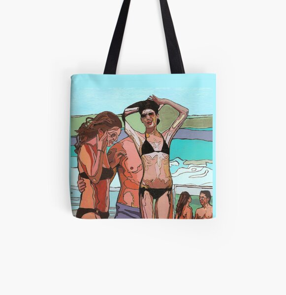 Beach side musings on perfection (Lara Flynn-Boyle & Drew Barrymore)  All Over Print Tote Bag