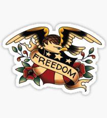 American Traditional Freedom Eagle Sticker
