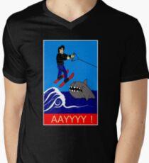 Jumping the Shark Men's V-Neck T-Shirt