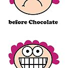 Chocolate - the before and after,neroli henderson,neroli, by Neroli Henderson