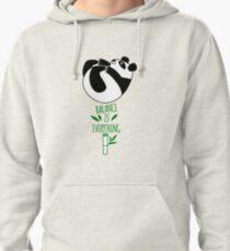 Balance Is Everything! Tumbling panda. Pullover Hoodie