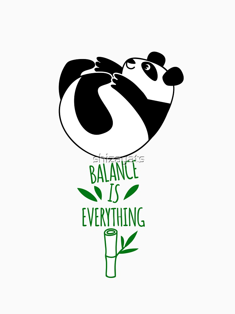Balance Is Everything! Tumbling panda. | Unisex T-Shirt