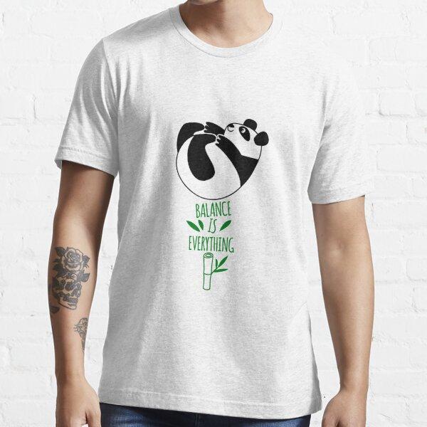 Balance Is Everything! Tumbling panda. Essential T-Shirt