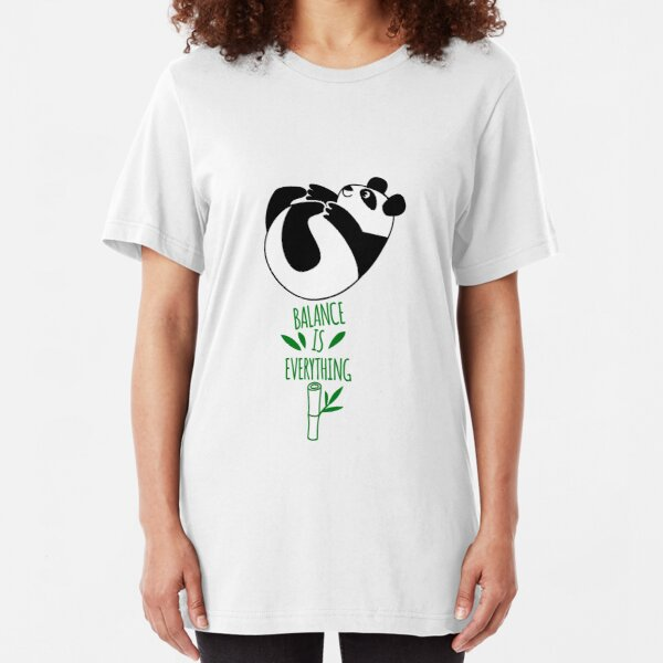 Balance Is Everything! Tumbling panda. Slim Fit T-Shirt