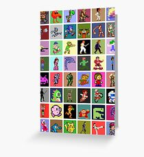 Pixel Heroes Greeting Card