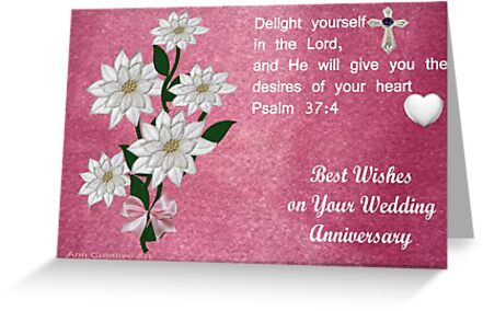 Wedding Anniversary Card Greeting Cards by Ann12art Redbubble