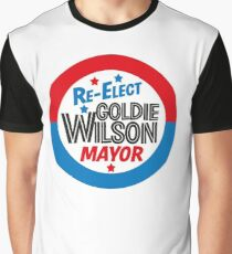 Back to the Future 'Re-Elect Mayor Goldie Wilson' design Graphic T-Shirt
