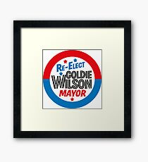 Back to the Future 'Re-Elect Mayor Goldie Wilson' design Framed Print