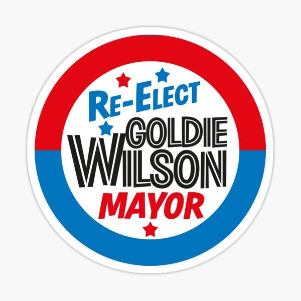 Regreso al futuro 'Reelija el diseño del alcalde Goldie Wilson' Pegatina