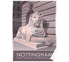 Nottingham, Council House Lion Poster