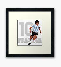 Maradona Framed Print