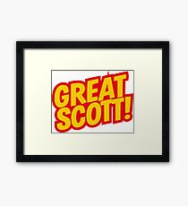 Back to the Future 'Great Scott!' quote Framed Print