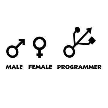 Programming Humor - Male / Female / Programmer Genders by zfox