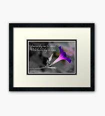 """Sometimes"" Framed Print"