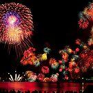 Fireworks over Otsu by Mark Elshout