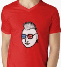 Captain Punk 3D Men's V-Neck T-Shirt
