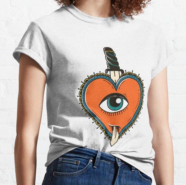 Retro demon heart tattoo  Classic T-Shirt