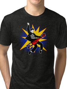 Even playing a rubber chicken I kick The Beatles' asses Tri-blend T-Shirt