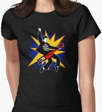 Even playing a rubber chicken I kick The Beatles' asses Womens Fitted T-Shirt