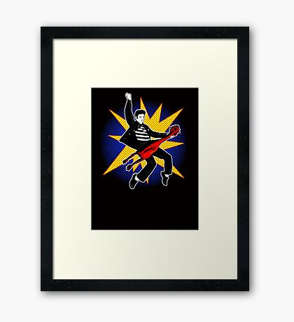 Even playing a rubber chicken I kick The Beatles' asses Framed Print