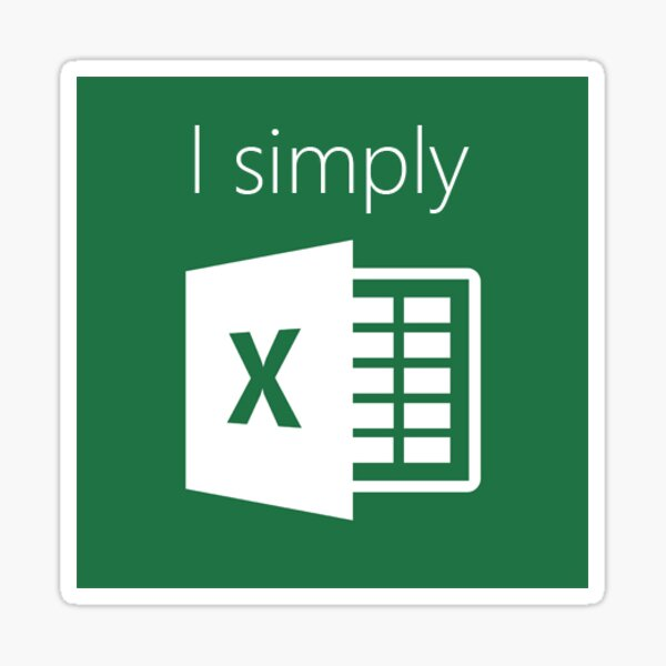 I Simply Excel Sticker