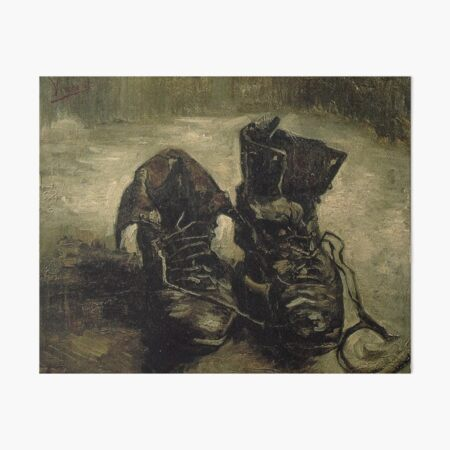 A Pair of Shoes , 1886 by Vincent Van Gogh (Remastered) Art Board Print