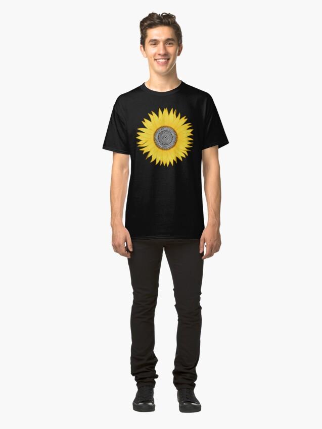 Alternate view of Mandala Sunflower Classic T-Shirt