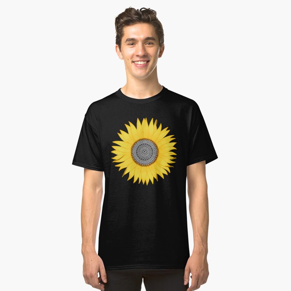 Mandala Sunflower Classic T-Shirt