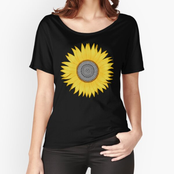 Mandala Sunflower Relaxed Fit T-Shirt